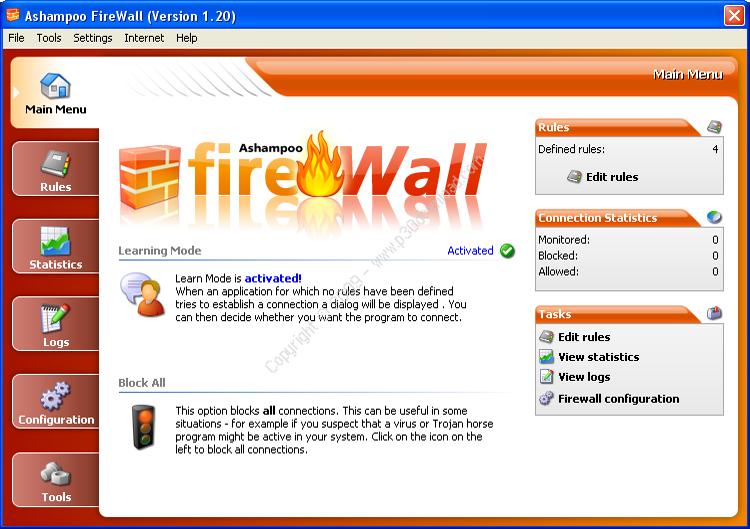 Ashampoo FireWall v1.20 Crack
