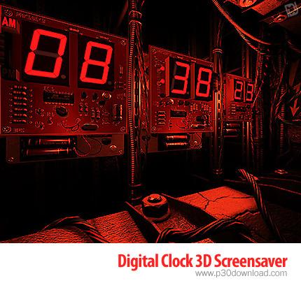 Digital Clock 3D Screensaver v1.0.1 Crack
