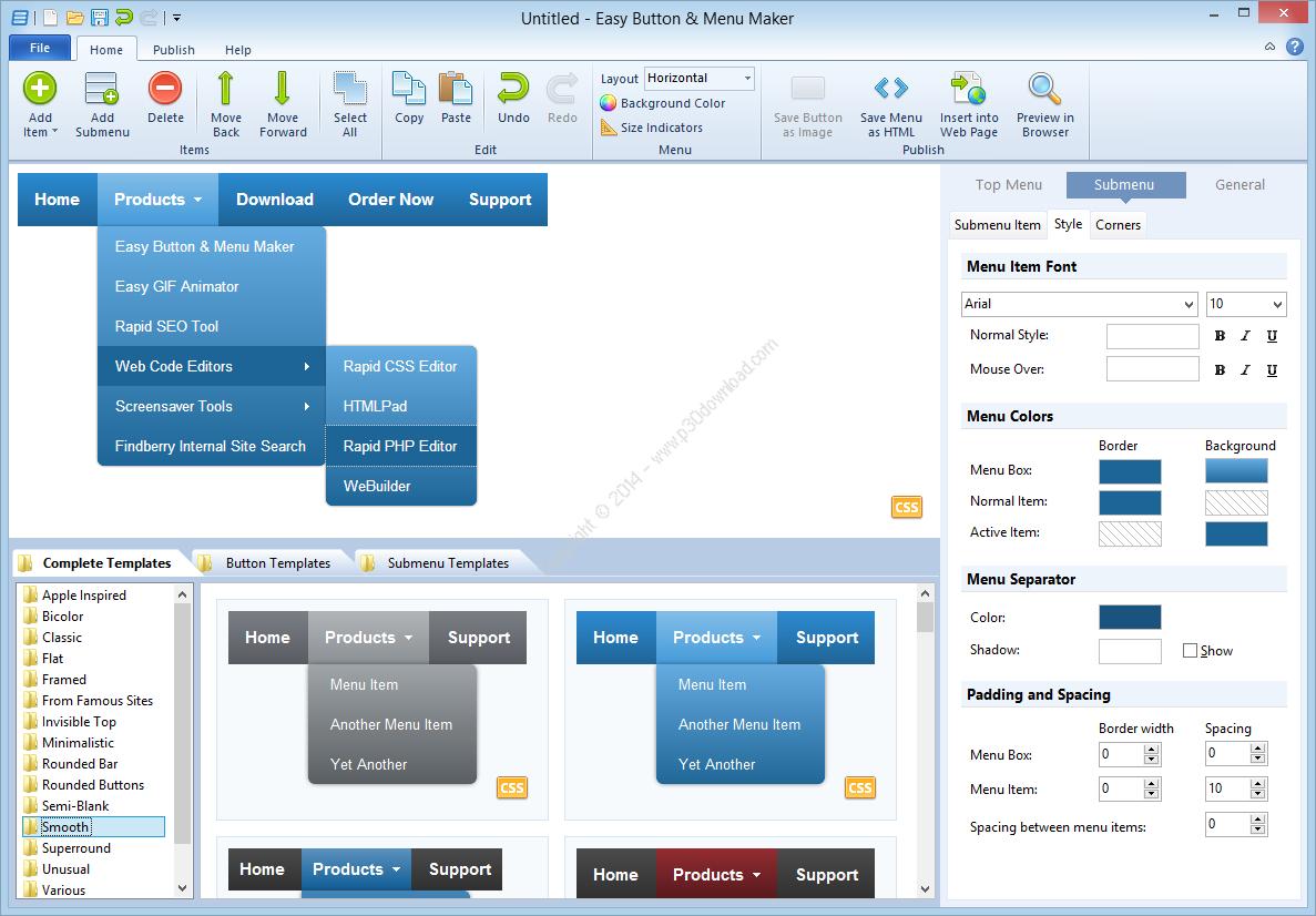 Blumentals Easy Button & Menu Maker Professional/Personal v5.2.0.36 Crack