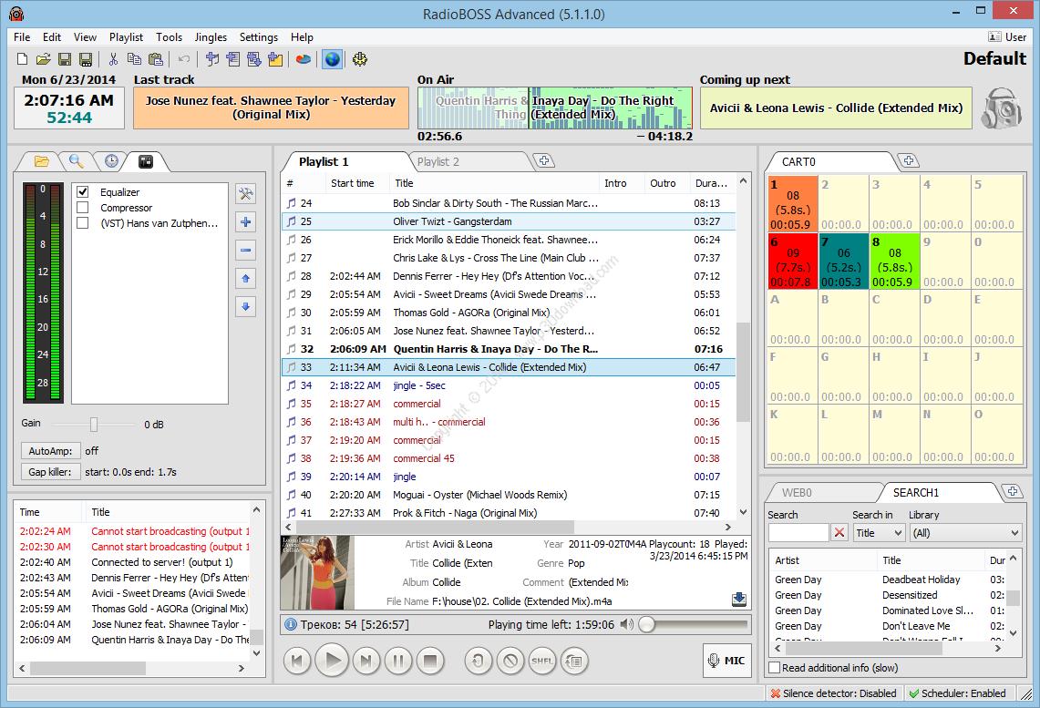 RadioBOSS Advanced v5.7.0.7 Crack