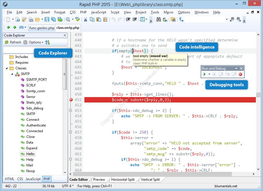 Blumentals Rapid PHP Editor 2016 v14.4.0.188 Crack