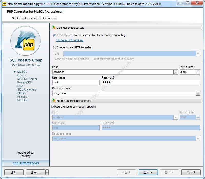 PHP Generator for MySQL Professional v17.10.0.1 Crack