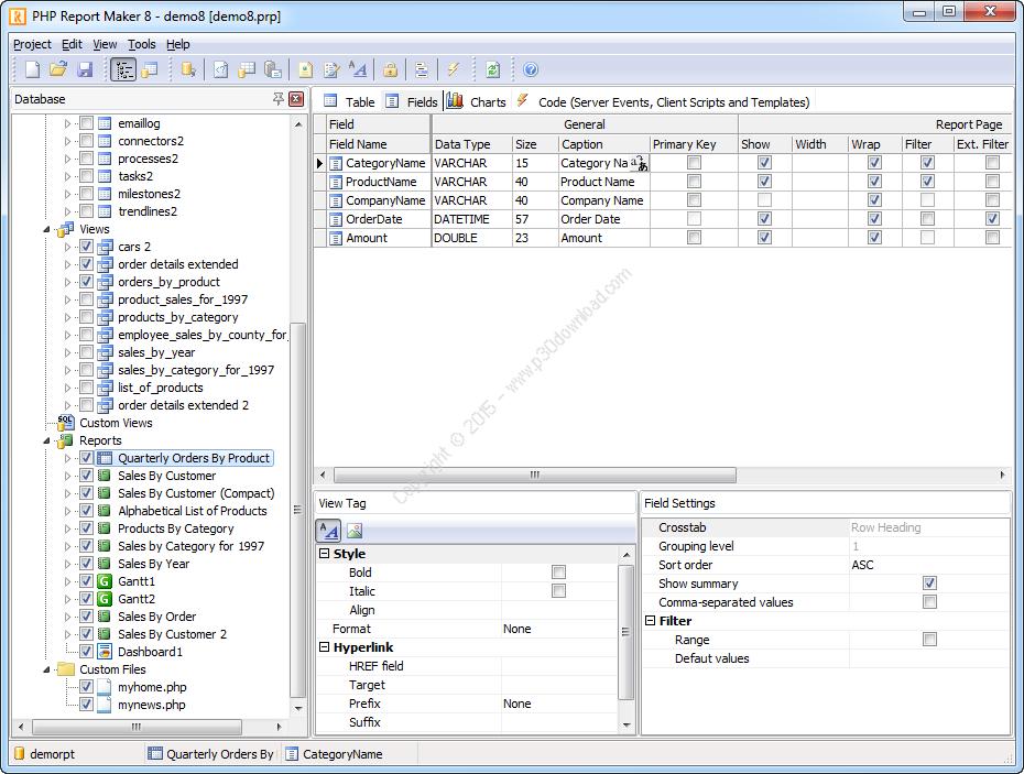 PHP Report Maker v11.0.0 Crack