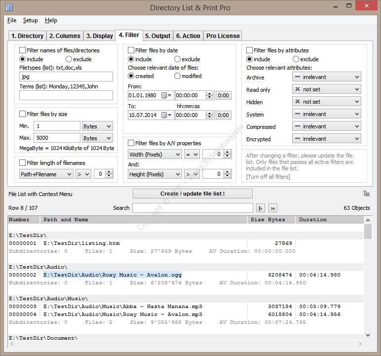 Directory List and Print Pro v3.43 Crack
