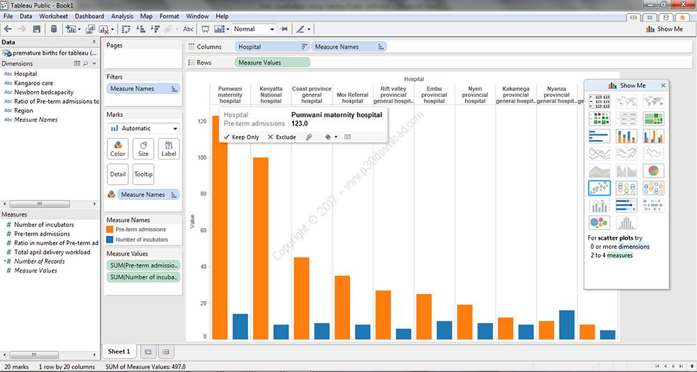 Tableau Desktop Professional Edition v10.5.1 x64 / v10.4.0 x86 Crack