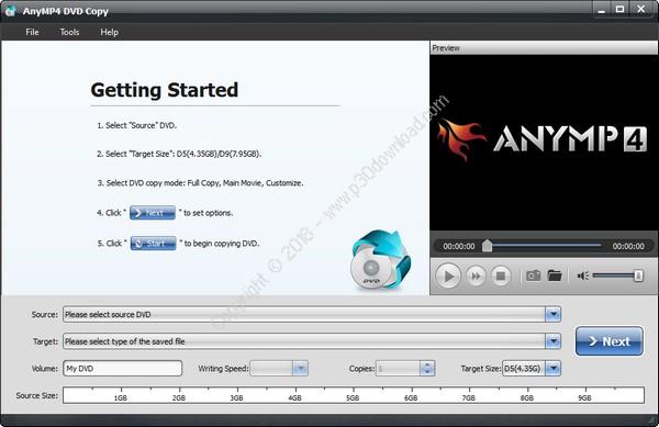 AnyMP4 DVD Copy v3.1.28 Crack