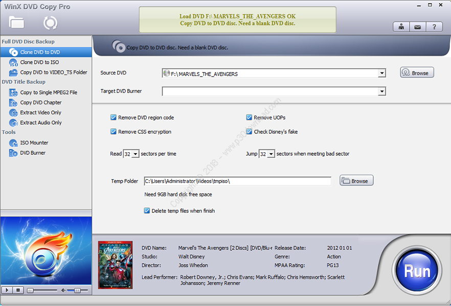 WinX DVD Copy Pro v3.8.0 Crack