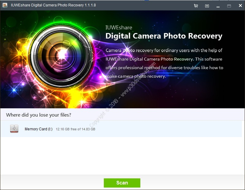 IUWEshare Digital Camera Photo Recovery v1.9.9.9 Crack