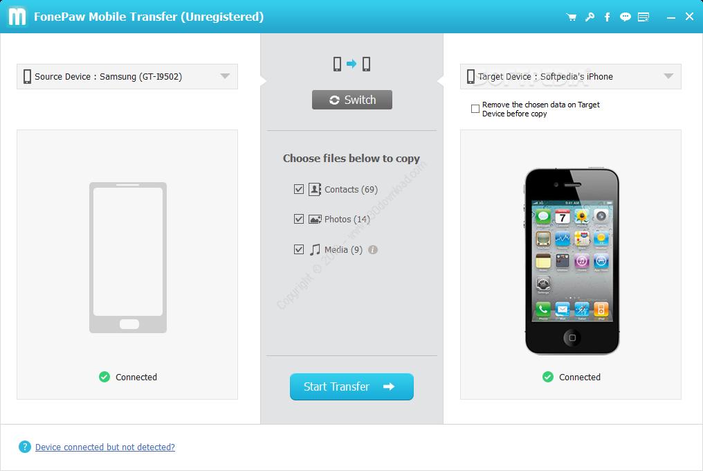FonePaw Mobile Transfer v1.9.0 Crack