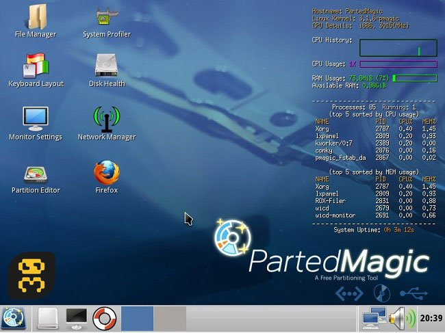 Parted Magic 2017.09.05 - Professional Hard Disk Management Crack