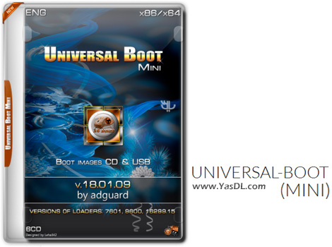 Universal-Boot Mini 18.01.09 By Adguard Eng – Boot Disk Professional Crack