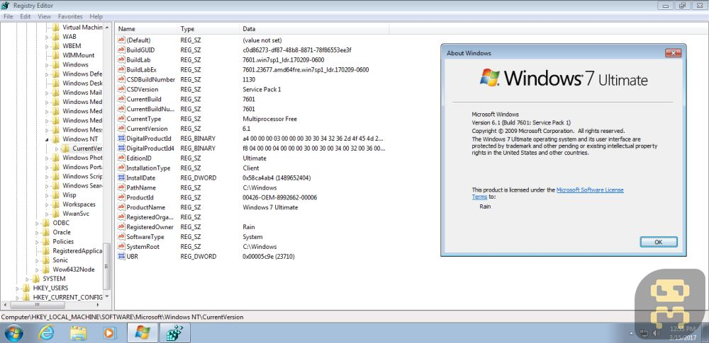 Windows Seven - Windows 7 Sp1 Ultimate (x86x64) February 2017 + Crack Crack